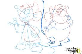 draw gus gus jaq cinderella drawingnow