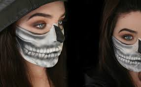 Halloween Skull Face Makeup by Badass Half Skull Halloween Makeup Tutorial Youtube