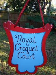 croquet court sign alice in wonderland party decoration