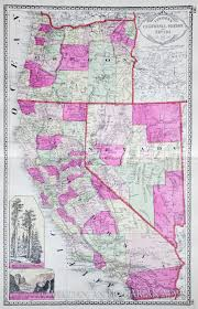 Map Of Calif Map Of California Nevada And Oregon 1914