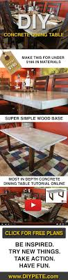 free dining table near me diy concrete dining table concrete dining table concrete and