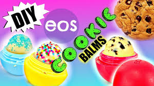 diy eos cookie lip balms chocolate chip u0026 sugar cookie eos ideas