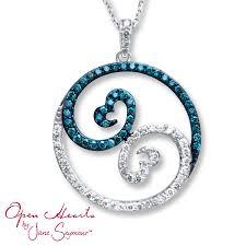 kay jewelers diamond blue diamond heart necklace kay jewelers your new photo blog