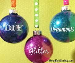 diy glitter ornaments happy home