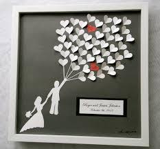 heart guest book wedding guest book alternative 3d paper hearts lovely bridal