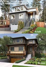 front sloping lot house plans narrow lot house plans for with front sloping lots craftsman house