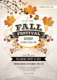 fall flyer templates for free stackerx info