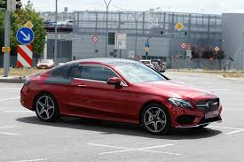 Mercedes C Class Coupe 2008 Spyshots 2016 Mercedes C Class Coupe Almost Undisguised In Red
