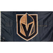 3 X 5 Flags Marc Andre Fleury Vegas Golden Knights Autographed 3 U0027 X 5 U0027 Flag