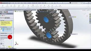 designing planetary gear drive in solidworks โปรเจกต น าลอง