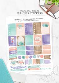 printable wedding planner printable wedding planning stickers at diy candy minted strawberry