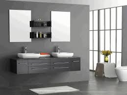 open shelving bathroom vanity white porcelain console sink dark