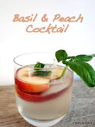 vodka soda basil u0026 peach cocktail perfect for summer 2 bees in a pod