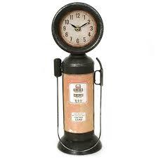 pompe a essence deco horloge décoration pendule cuisine horloge pompe à essence en