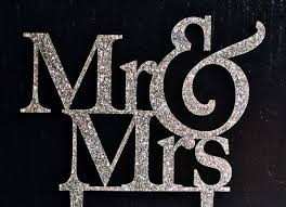 glitter wedding cake topper mr and mrs cake topper by chicago