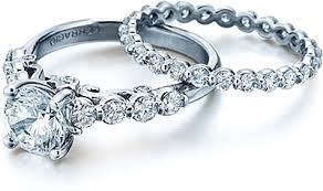 Circle Diamond Wedding Ring by Verragio Bar Set Round Brilliant Diamond Engagement Ring Ins 7041