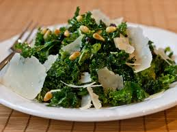 shredded kale salad with pine nuts currants and parmesan recipe
