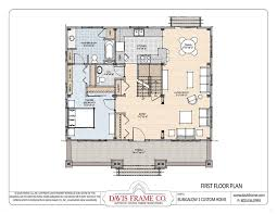 Post And Beam Floor Plans Craftsman Bungalow Home Floor Plans From Davis Frame Layout 1