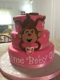 pink monkey baby shower cake all my cakes pinterest monkey