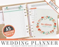 wedding planner organizer a5 ultimate wedding planner organizer kit instant