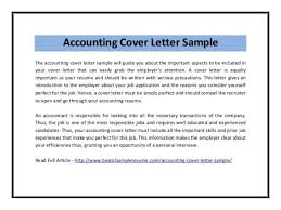 examples of cover letters for accounting positions new cover