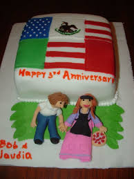 Flag Cake Images Mexican American Flag Cake Our 3rd Anniversary Cakecentral Com