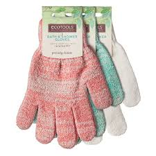 ecotools eco friendly shower gloves made of recycled materials ecotools exfoliating bath shower gloves
