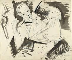 moma the collection ernst ludwig kirchner sailor saying