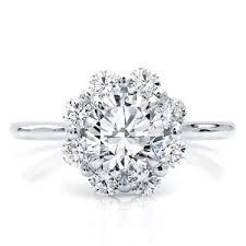 flower halo engagement ring setting r3062 - Flower Halo Engagement Ring