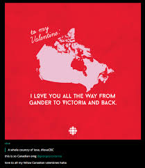 valentines for cbc s valentines for canada the shorty awards