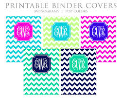 9 best images of printable binder covers blue printable chevron