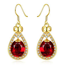 earrings for women fashion earrings women classic drop gold plated platinum plated