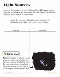 light and shadows lesson plans light and shadow worksheet education com