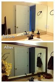 How To Build A Frame Around A Bathroom Mirror Bathroom Frame Bathroom Mirror Fresh Decorating Cents Framing The