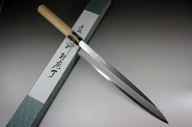 Japanese Steel Kitchen Knives Tojiro Japanese Style Shirogami White Steel Yanagiba Sashimi