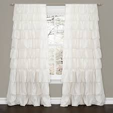Outer Space Window Curtains by Amazon Com Lush Decor Ruffle Window Curtain Panel 84 By 50 Inch