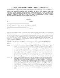 California General Durable Power Of Attorney hawaii springing power of attorney legal forms and california