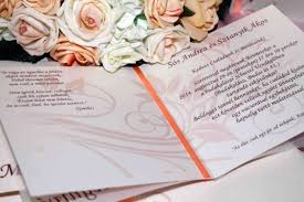 Type Of Invitation Card Wedding Invitation With Card