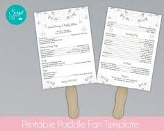 paddle fan program template lace paddle fan program template sided diy