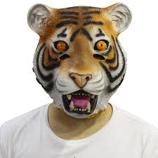 tiger mask halloween amazon com novelty latex rubber creepy deluxe tiger mask