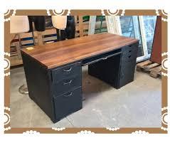 bureau metal et bois bureau metal et bois vintage agencement bobital 22100