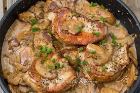 turkey and mushroom gravy recipe pork chops with brandy mushroom sauce art and the kitchen