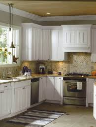 white living room kitchen design white cabinets white appliances