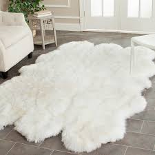 Safavieh Faux Sheepskin Rug Safavieh Prairie Sheepskin Wool White Shag Rug 4 X 6 Today