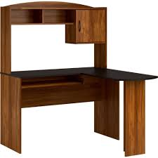 Cherry Wood Desk With Hutch Furniture Cherry Wood L Shaped Desk Black Glass Corner Table L