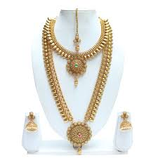 gold jewelry sets for weddings jewellery set online swarajshop bridal necklace set online