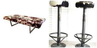 Faux Cowhide Chair Gail U0027s Custom Faux Cowhide Stools U2014 Stylemutt Home Your Home