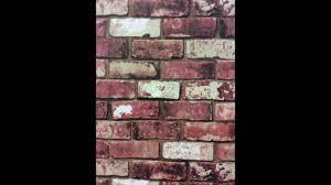 graham u0026 brown wallpaper red brick 57146 youtube