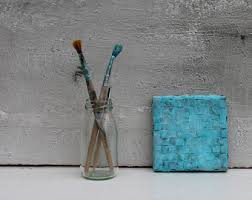 turquoise painting etsy