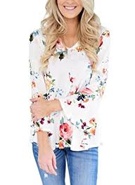 floral blouse farysays s casual v neck floral print bell sleeve t